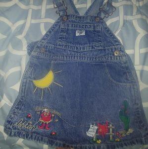 Oshkosh western overall dress
